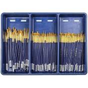 Royal Gold Taklon Bristle Shader/Round Assortment Box Set 144pc