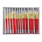 Royal White Bristle Round/Flat Assortment Box Set 144pc