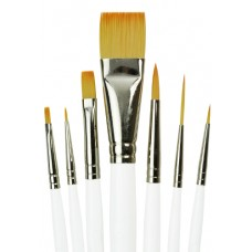 Golden Taklon 7pc Beginner Brush Set (Short Handle)