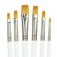 Golden Taklon Shader Brush Set (6 pc.)