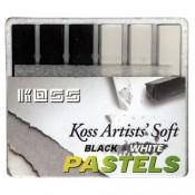Koss 6 pc. Black and White Chalk Set