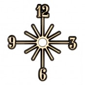 Sunburst Clock Face - 3""
