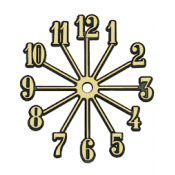 Sunburst Clock Face - 6.5""