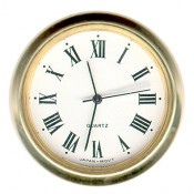 "1-7/16"" Roman numeral style clock insert movement"