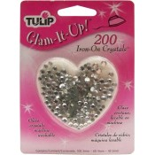 Tulip Clear Glass Iron-On Crystals (200 ct.)