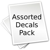 Decal Package 15 - Assorted Mug Wraps (25 sheets)