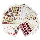 Decal Package 7 - Assorted Hearts, Love Poems and More For Valentine's Day (25 sheets)
