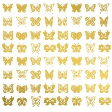 Butterfly Glass Decals - Gold