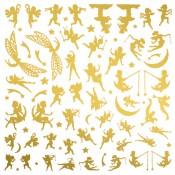 Fairies Glass Decals - Gold