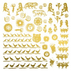 Hodge Podge Glass Decals - Gold