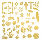 Beautiful Glass Decals - Gold