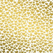 Hearts Glass Decal - Gold