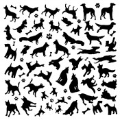 Dogs Glass Decals