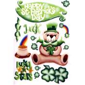 E-Z Rub-On Transfers - St. Patty's Day Bear