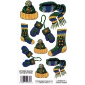 E-Z Rub-On Transfers - Hats & Mittens (Glitter)