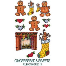 E-Z Rub-On Transfers - Ginger Holiday