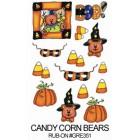 E-Z Rub-On Transfers - Candy Corn Bears