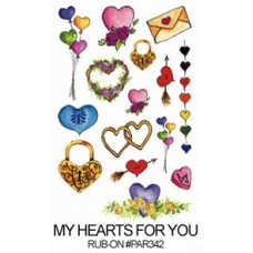 E-Z Rub-On Transfers - My Heart's For You