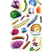 E-Z Rub-On Transfers - Snails & Caterpillars