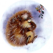 Virma decal 1336 - Little raccoon, rabbit, tiger, porcupine and duck