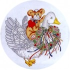 Virma decal 1356 - Goose and teddy bear