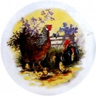 Virma decal 1178 - Hen, Chicks, Rooster