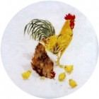 Virma decal 1182 - Rooster, Hen and Chicks
