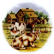 Virma decal 1308 - Barnyard Cows