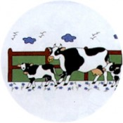 Virma decal 1434 - Cow and calves mug wrap