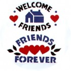 Virma decal 1480 - Welcome Friends design