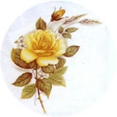 Virma 1006-Y Yellow rose Decal