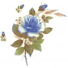 Virma 1006-BL Blue Rose Decal