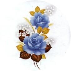 Virma 1066 Blue Roses Decal