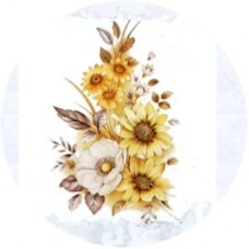 Virma 1082 Yellow Flowers Bouquet Decal
