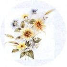 Virma decal 1084-Yellow Flowers