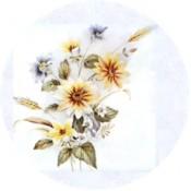 Virma decal 1084-Yellow Flowers
