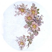 Virma decal 1228- Pink/Purple Flowers