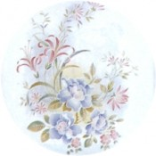 Virma decal 1326-Flowers Blue and Pink