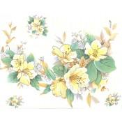Virma decal 1570-Yellow Flowers