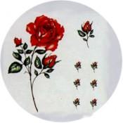 Virma decal 1742 - Red Rose on Stem