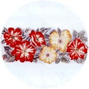 Virma decal 1874- Red flowers mug wrap