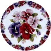 Virma decal 1948- Purple, Blue, Pink, Flowers