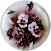 Virma decal 1976 - Purple Flowers and Hummingbird