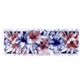Virma decal 2076 -Flowers mug wrap, mauve and blue