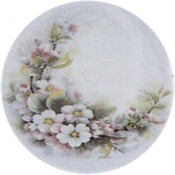 Virma decal 2174-white and pink flowers, Curved