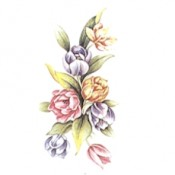 Virma decal 2294-Pink, Orange & Purple Flowers