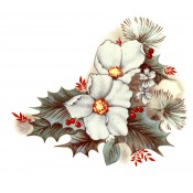 Virma decal 1310 - Christmas Holly and Flowers