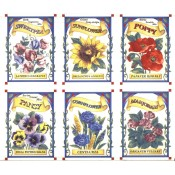 Virma decal 2086 - Flowers, Seed Packets, set of 6.
