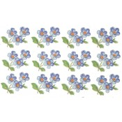 Virma decal 2280- Little Blue Flowers