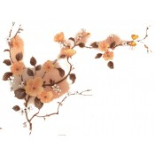 Virma decal 2324 - Orange Flowers on Branch